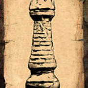 Chess Rook Poster by Tom Mc Nemar