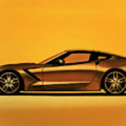 Chevrolet Corvette Stingray 2013 Painting Poster