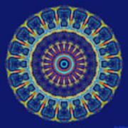 Chevrons II Mandala Poster