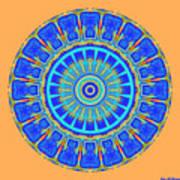 Chevrons Mandala Poster