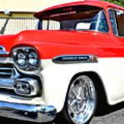 Chevy Apache Custom Hot Rod Truck Poster