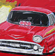 Chevy Drag Poster