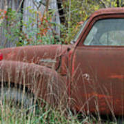 Chevy Truck Rusting Along Road Poster