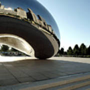 Chicago - Cloud Gate Reflection Poster