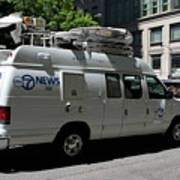 Chicago Abc 7 News Truck Poster