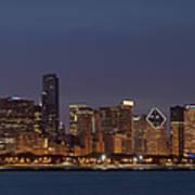 Chicago After Dusk Poster