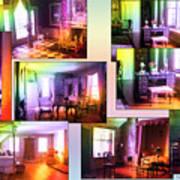 Chicago Art Institute Miniature Rooms Prismatic Collage Poster