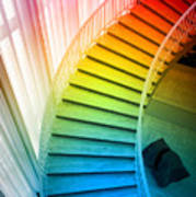Chicago Art Institute Staircase Pa Prismatic Vertical 02 Poster