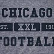 Chicago Bears Retro Shirt Poster