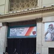 Chicago Bears Union Station Poster