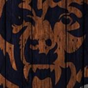 Chicago Bears Wood Fence Poster