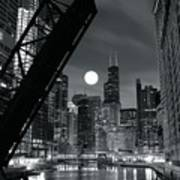 Chicago Black And White Nights Poster
