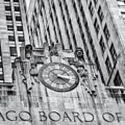 Chicago Board Of Trade Bw Poster