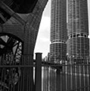 Chicago Bridge And Buildings Poster