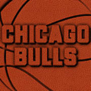 Chicago Bulls Leather Art Poster