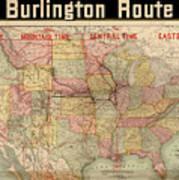 Chicago, Burlington Route System Map, 1892. Poster