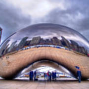 Chicago Cloud Gate Poster
