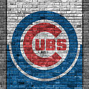 Chicago Cubs Brick Wall Poster