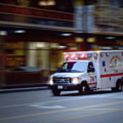 Chicago Fire Department Ems Ambulance 74 Poster