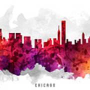 Chicago Illinois Cityscape 14 Poster