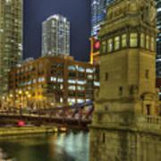 Chicago La Salle Street Bridge Poster