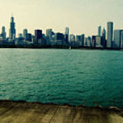 Chicago Lake Michigan Skyline Poster