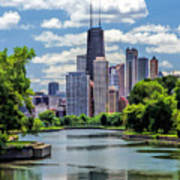 Chicago Lincoln Park Lagoon Poster