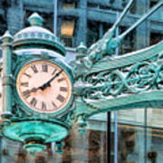 Chicago Marshall Field State Street Clock Poster