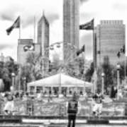 Chicago Nfl Draft Town 2016 Bw Poster