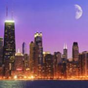 Chicago Oak Street Beach Poster