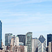 Chicago Panoramic Skyline High Resolution Picture Poster