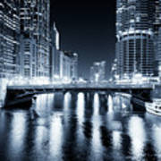 Chicago River At State Street Bridge Poster