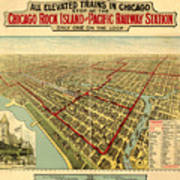 Chicago Rock Island And Pacific Railway Station Poster