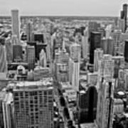 Chicago Skyline Landscape Poster