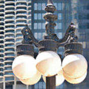 Chicago Street Lamps Poster