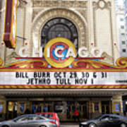 Chicago Theater Marquee Jethro Tull Signage Poster