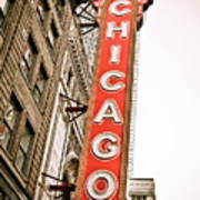Chicago Theater Sign Marquee Poster