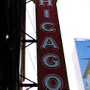 Chicago Theater Sign Poster