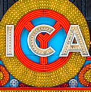 Chicago Theatre Sign V3crop Details Dsc2176 Poster