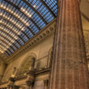 Chicago Union Station Column Poster