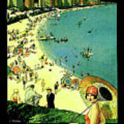 Chicago, Vacation City, Areal View On The Beach Poster
