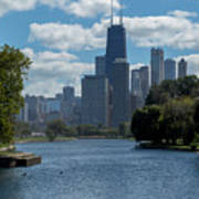 Chicago - View From Lincoln Park Lagoon Poster
