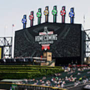 Chicago White Sox Home Coming Weekend Scoreboard Poster