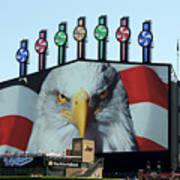 Chicago White Sox Usa Eagle Scoreboard Poster
