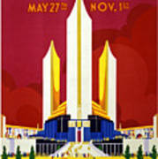 Chicago, World's Fair, Vintage Travel Poster Poster