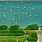 Chicago's Dusable Harbor  Poster