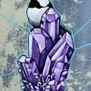 Chickadee And Amethyst Poster
