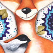 Chickadee Fox Poster