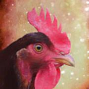 Chicken Portrait - Painting Poster