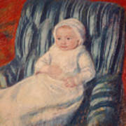 Child On A Sofa Poster by Mary Cassatt
